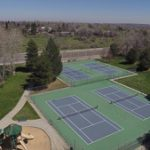 Majestic View tennis courts facing 72nd Avenue